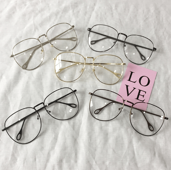 a07ea08ebf itGirl Shop CLEAR ROUND SQUARE METALLIC FRAME KOREAN GLASSES Aesthetic  Apparel