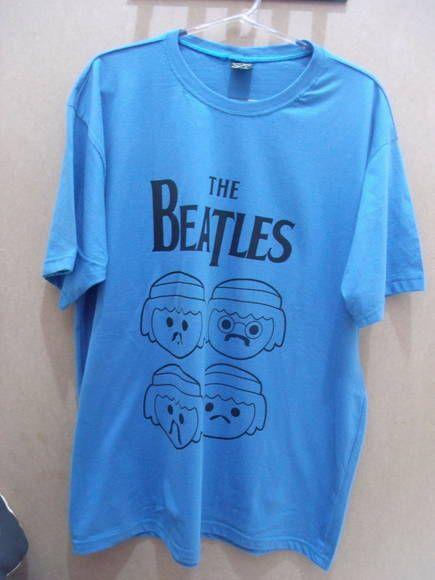 Camiseta The Beatles Play Mobile Cor  Azul 100% algodão Tamanho  G R ... f3b190b04717e