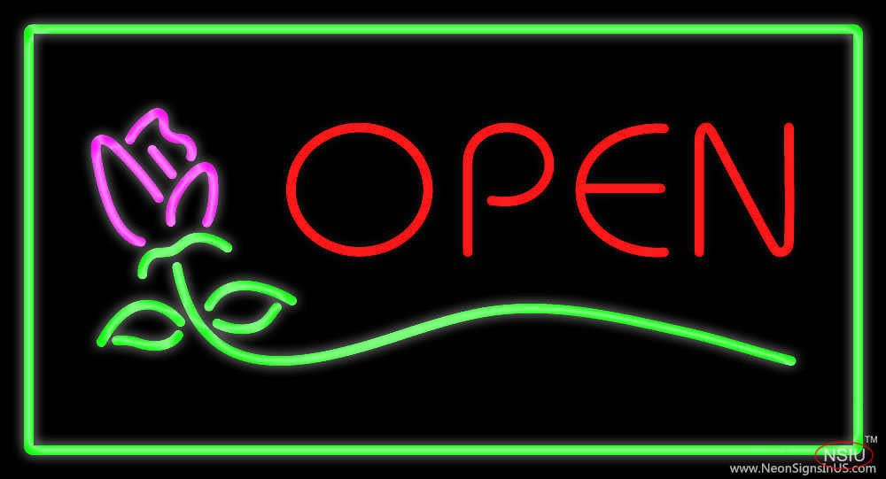 Rose Green Rectangle Open Real Neon Glass Tube Neon Sign,Affordable and durable,Made in USA,if you want to get it ,please click the visit button or go to my website,you can get everything neon from us. based in CA USA, free shipping and 1 year warranty , 24/7 service