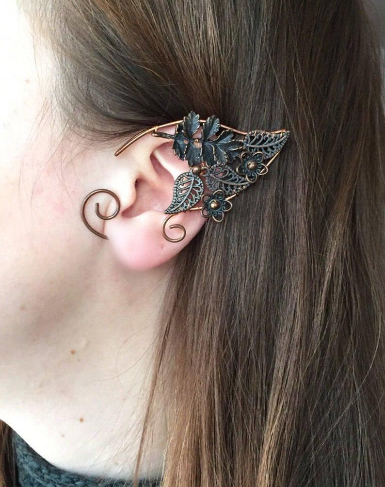 Elven Ear Cuffs Silver Elven Ear Cuffs Silver Fairy Ears Etsy Ear Jewelry Ear Cuff Silver Ear Cuff