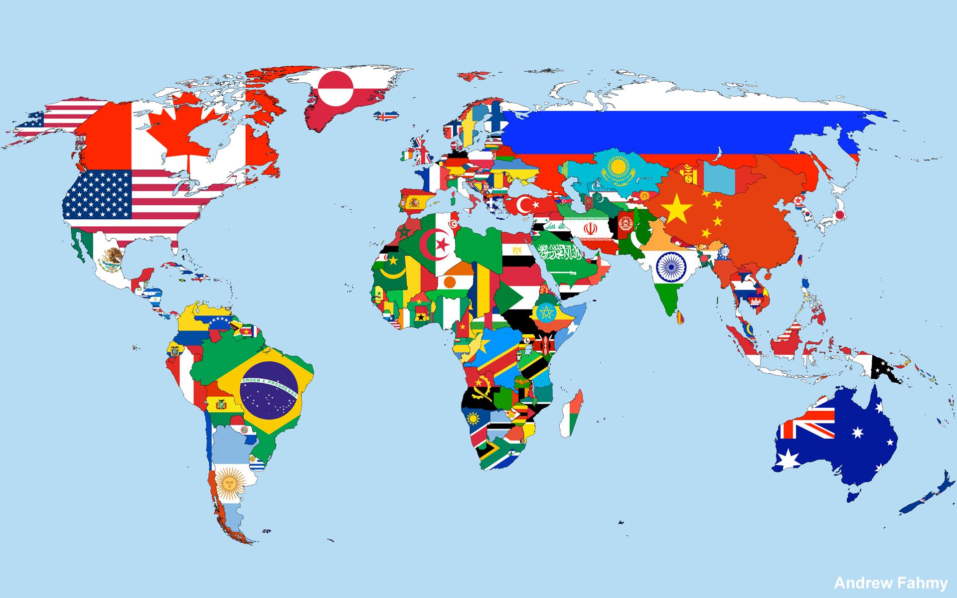 Carte du monde des drapeaux | Flags and Geography