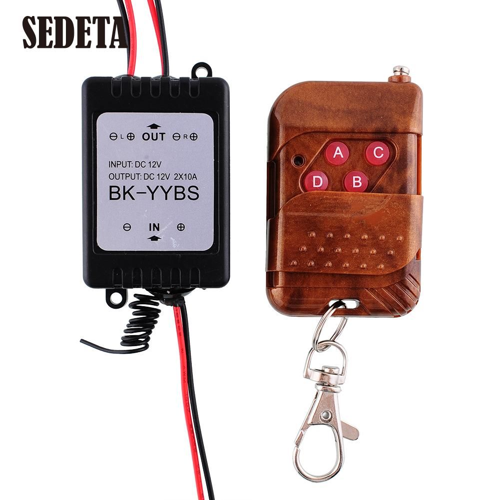 뜨거운 1x12 볼트 무선 원격 제어 모듈 w/스트로브 플래시 자동차 자동 차량 트럭 전구 빛 led 스트립
