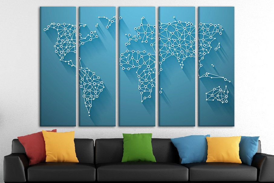 World map poster world travel map extra large world map wall canvas world map poster world travel map extra large world map wall canvas art giant map wall decor map wall world map big canvas canvas art canvas gumiabroncs Images