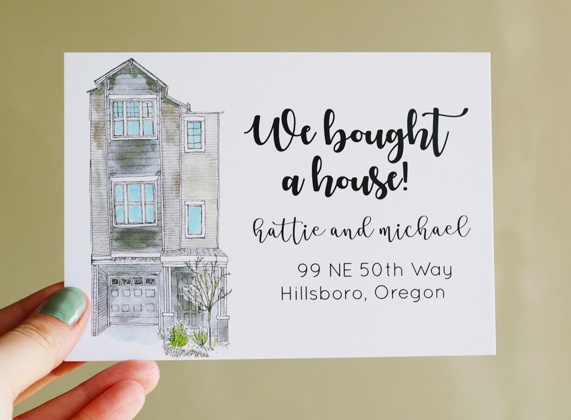 Custom Home Portrait Address Postcards Change Of Address We Ve