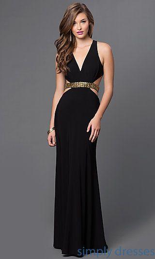 Black floor length formal dresses
