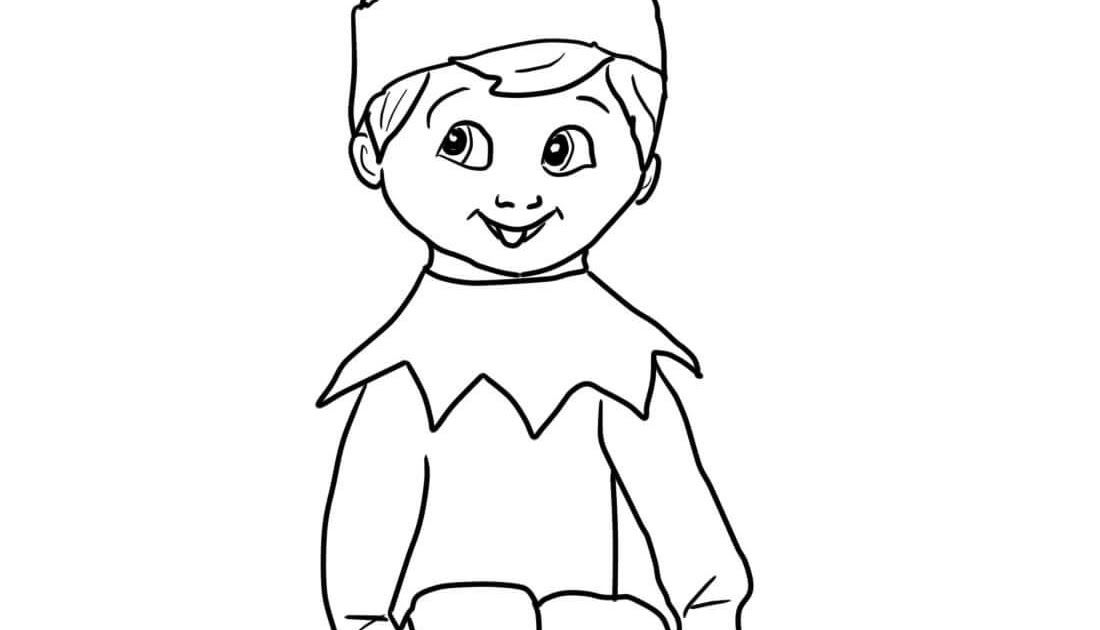 These Free Printable Santa Elves Pages Also Christmas Elf On The Shelf Coloring Page Elegant Free Printa Christmas Elf Santa S Elves Christmas Coloring Pages