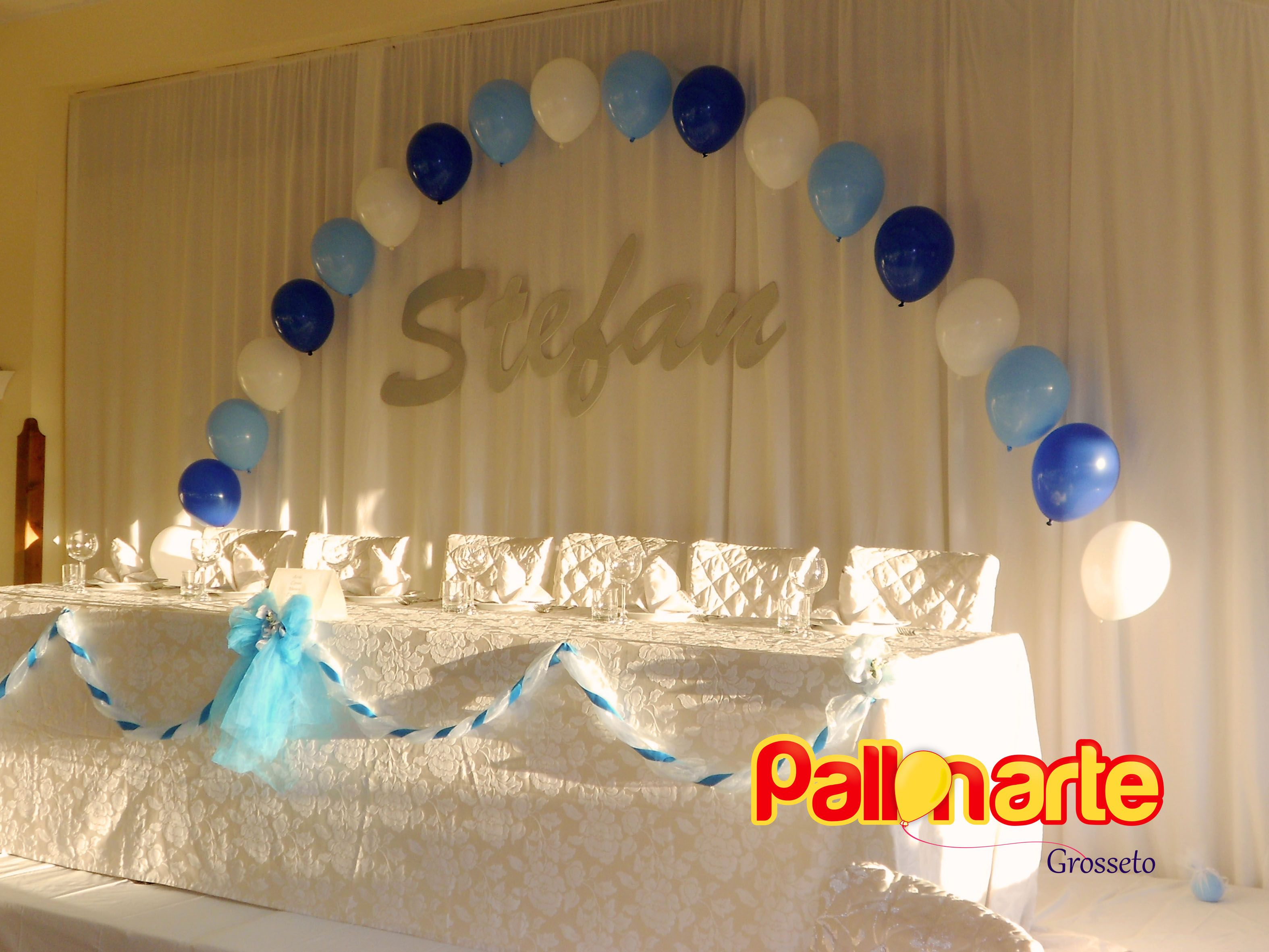 Tavolo Buffet ~ Tavolo d onore arco filo di perle con palloncini cartellone con