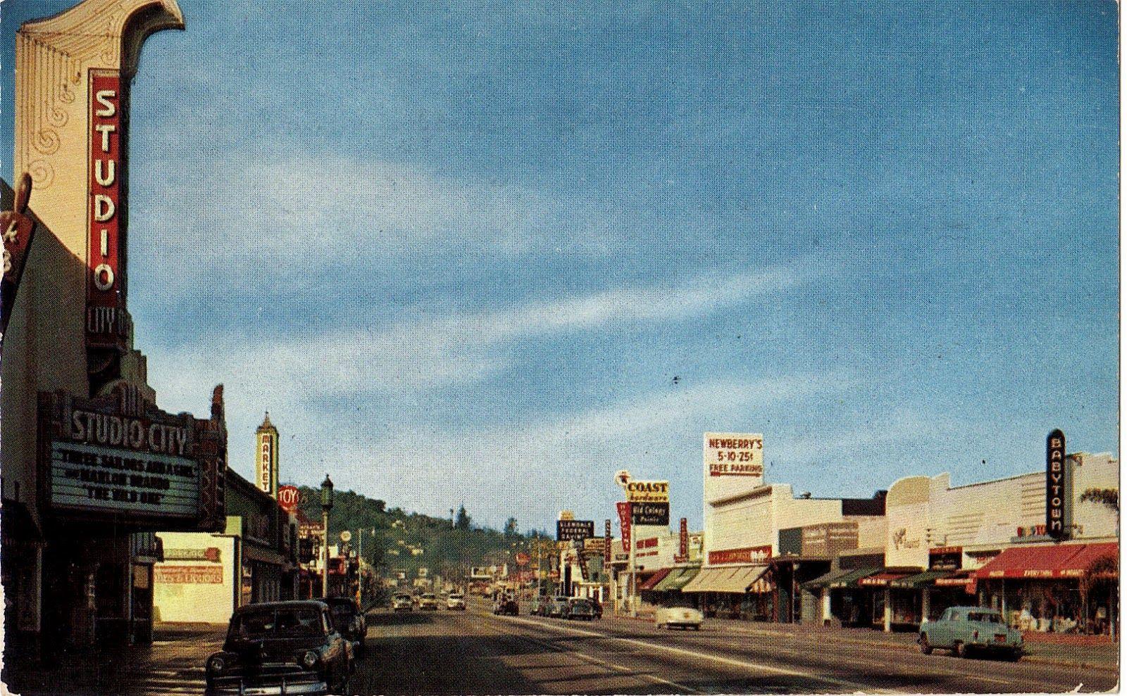 Studio City Ventura Blvd Circa 1952 Vintage La