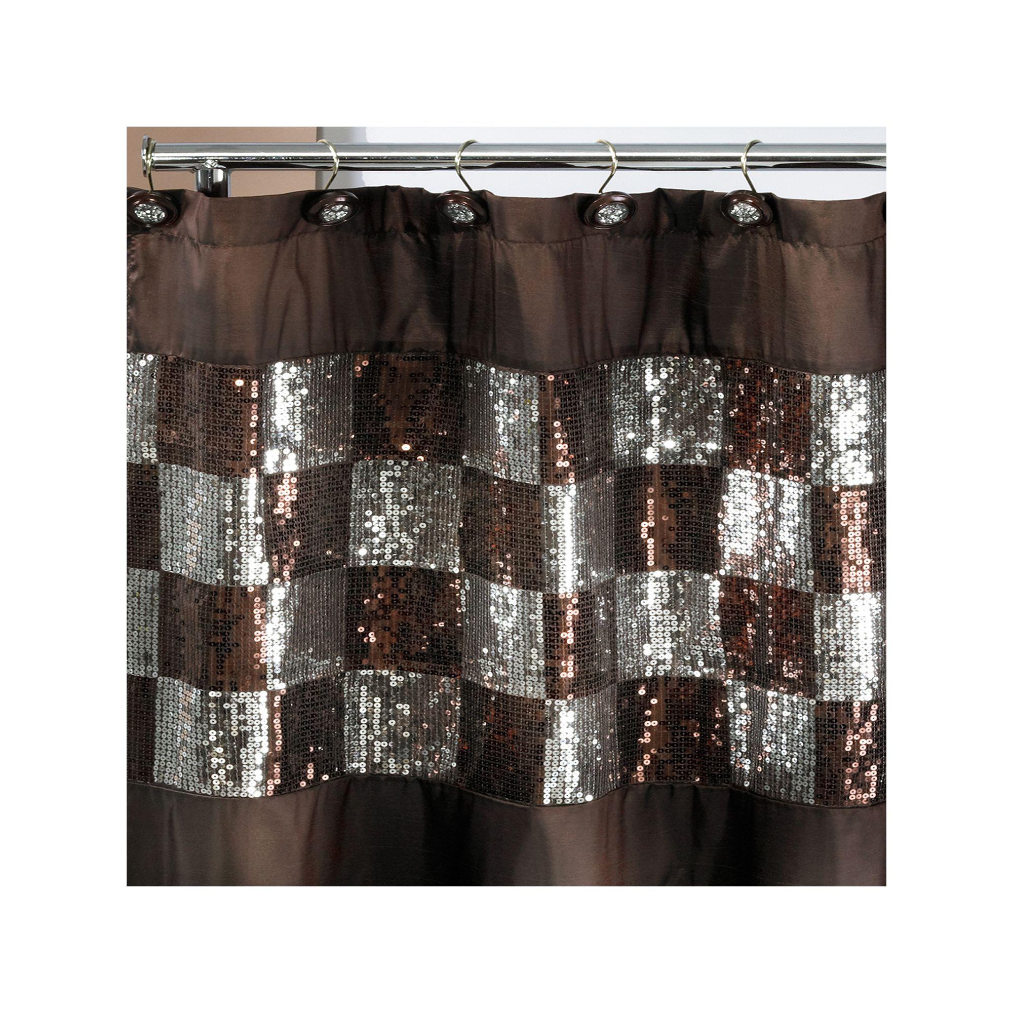 Popular Bath Elite Orb Fabric Shower Curtain Fabric Shower