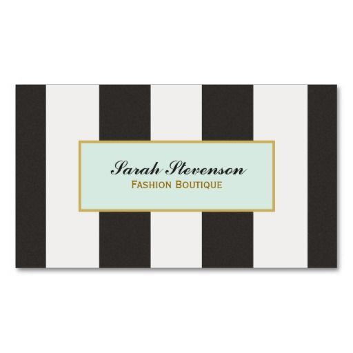 Elegant black and white stripes fashion boutique business cards card templates accmission Gallery