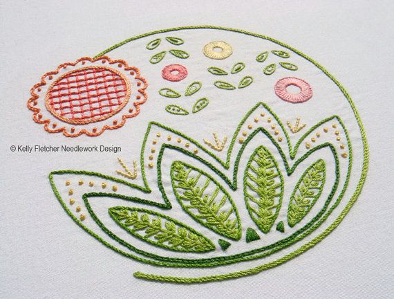 Sweetsong Hand Embroidery Pattern Modern Embroidery Crewel