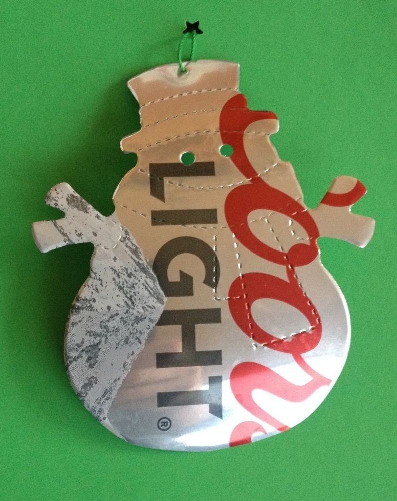Dad christmas ornament - Snowman Coors Light Beer Christmas Recycled Aluminum Pop Can Tree Ornament Dad