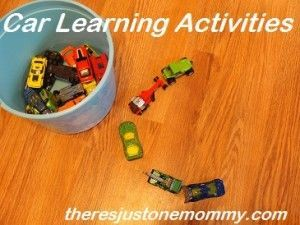 Activities with Cars learning activities with by There's Just One Mommylearning activities with by There's Just One Mommy