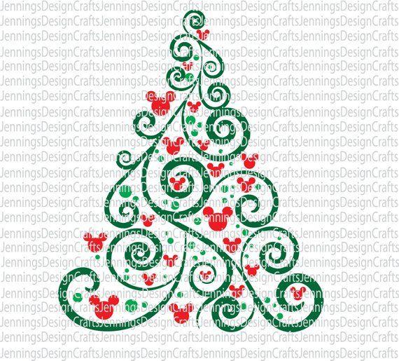 Bare Christmas Tree Svg.Mickey Mouse Christmas Tree Svg Products Mickey Mouse