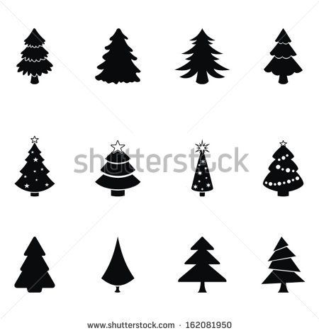 Christmas Trees Vector Image On Christmas Art Christmas Crafts
