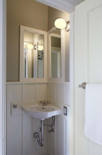 pictures of corner sinks with mirror ideas  Google Search