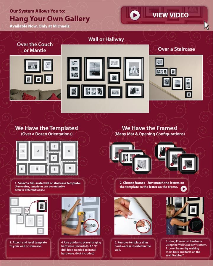 Hang your own gallery #MichaelsStores | Frames & Wall Decor ...
