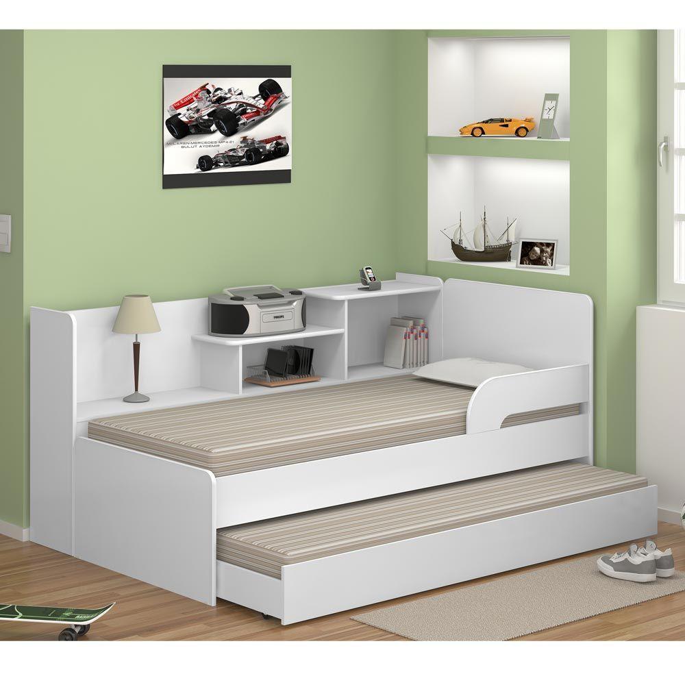 Cama Infantil Bicama Com Estante 0740 Branco Premium Multimoveis
