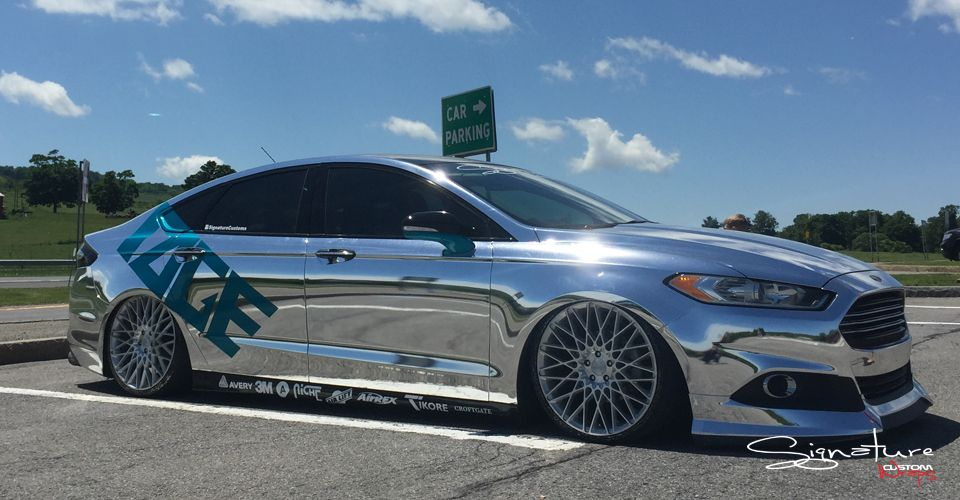 Chrome Wrapped Fusion Ford Fusion Ford Fusion Custom Ford Mondeo