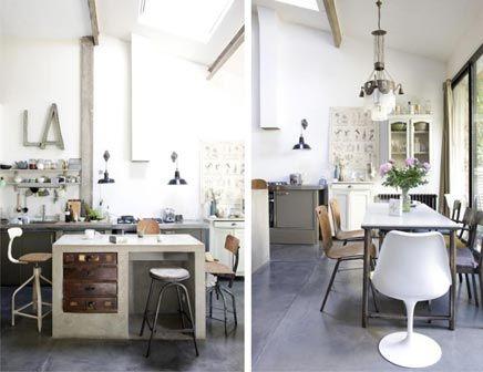 Industriele Interieur Inrichting : Industriële vintage huis inrichting in parijs