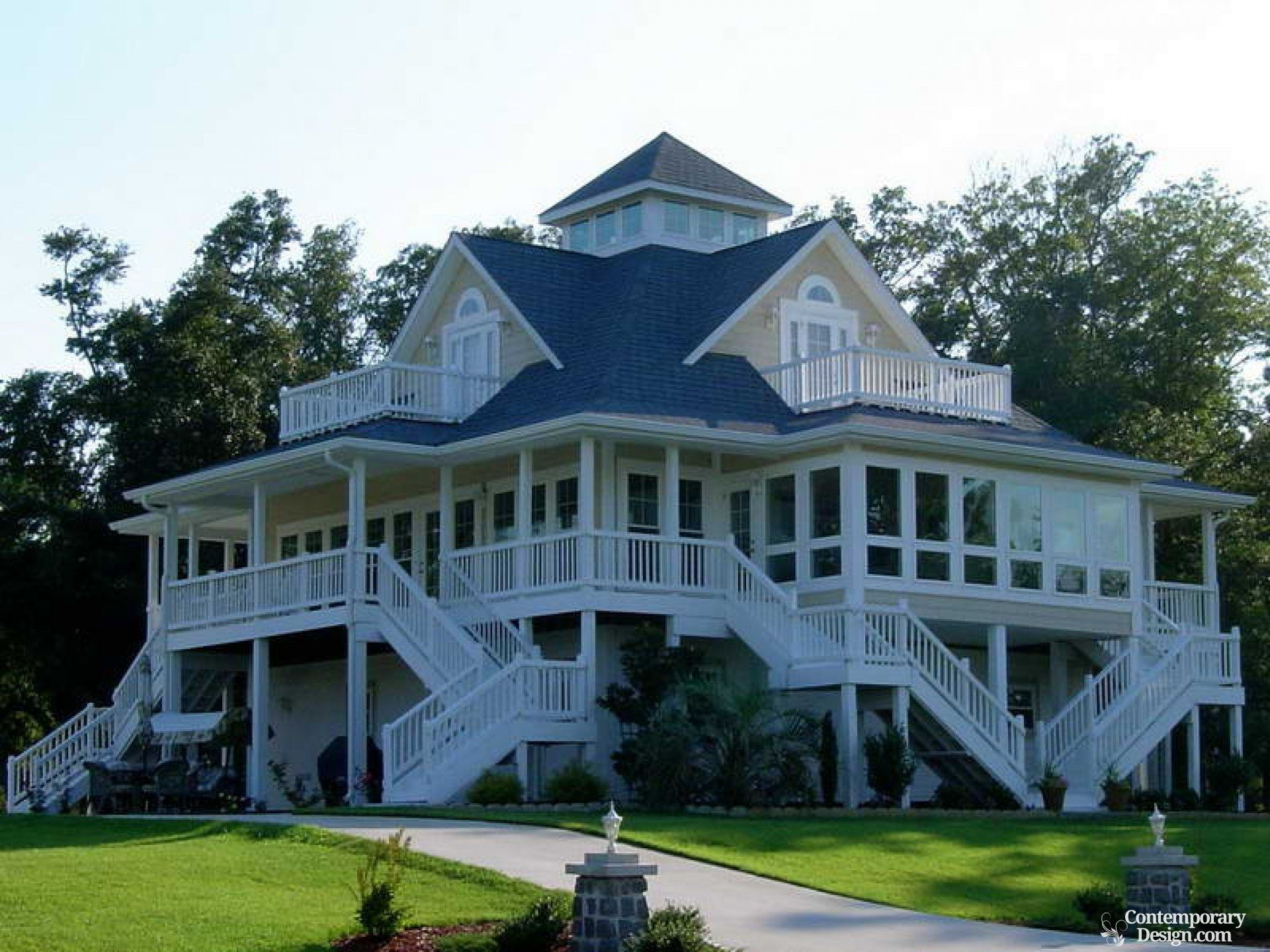 ranch style house with wrap around porch column wrap porch and