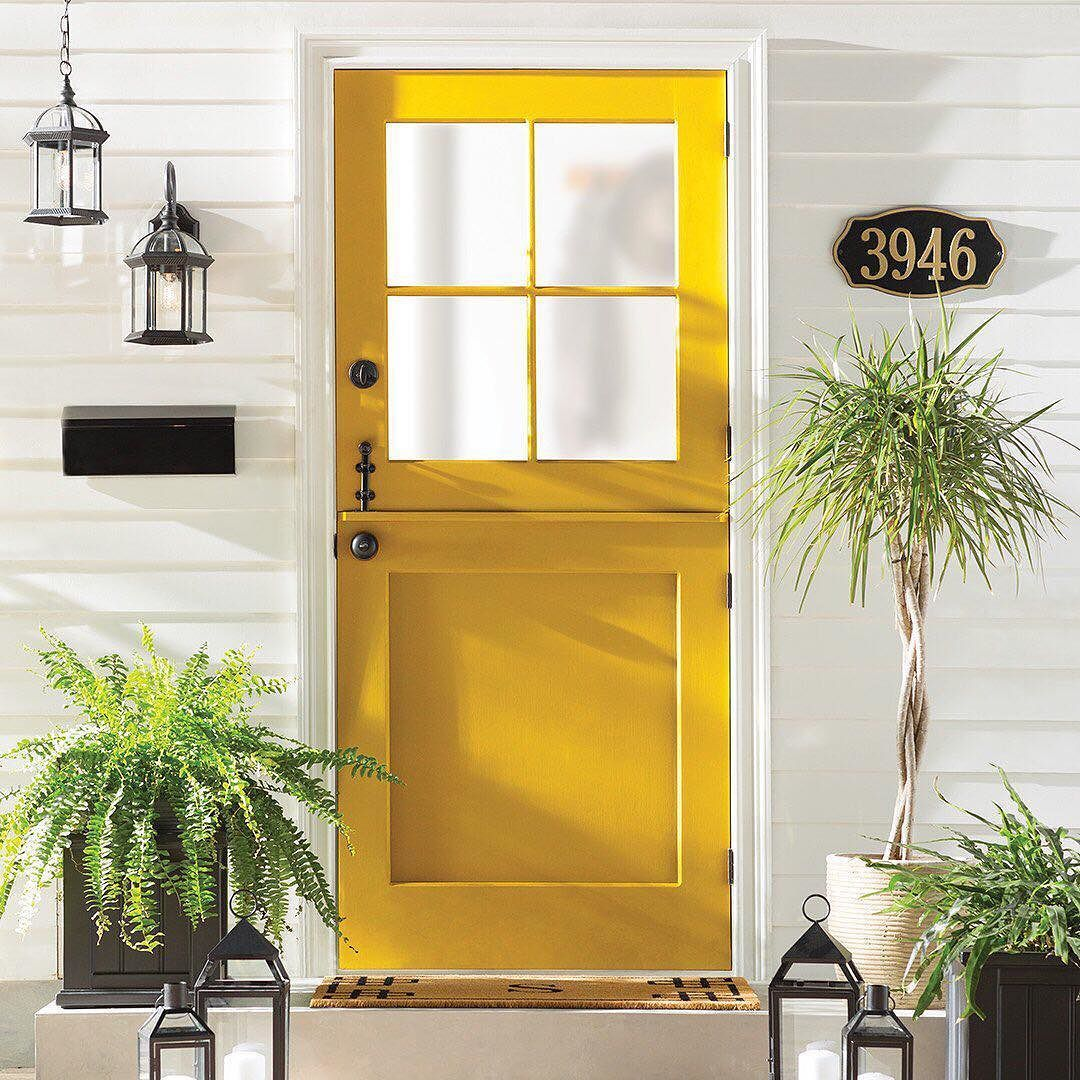 What does your door color say about you this sunny yellow