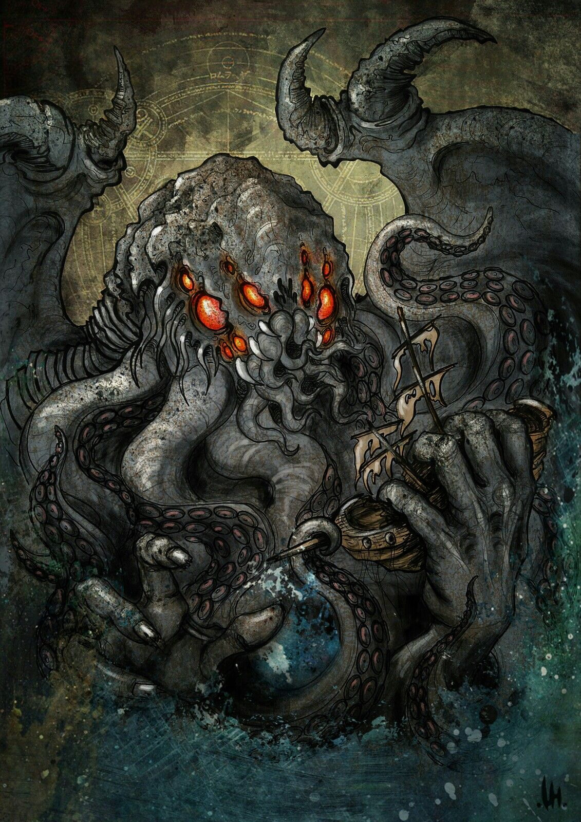 Pin by J on Inspiration Cthulhu, Lovecraft monsters