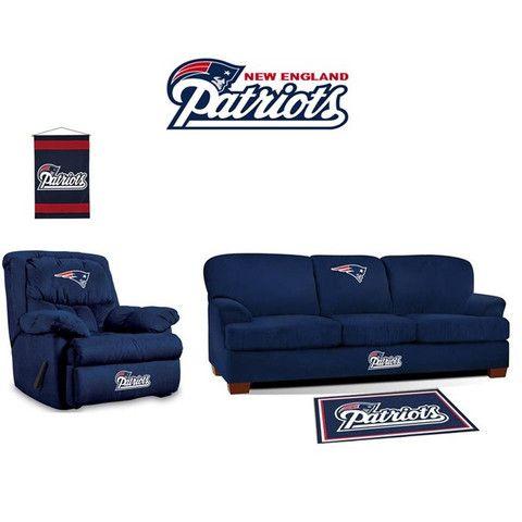 New England Patriots Microfiber Furniture Set