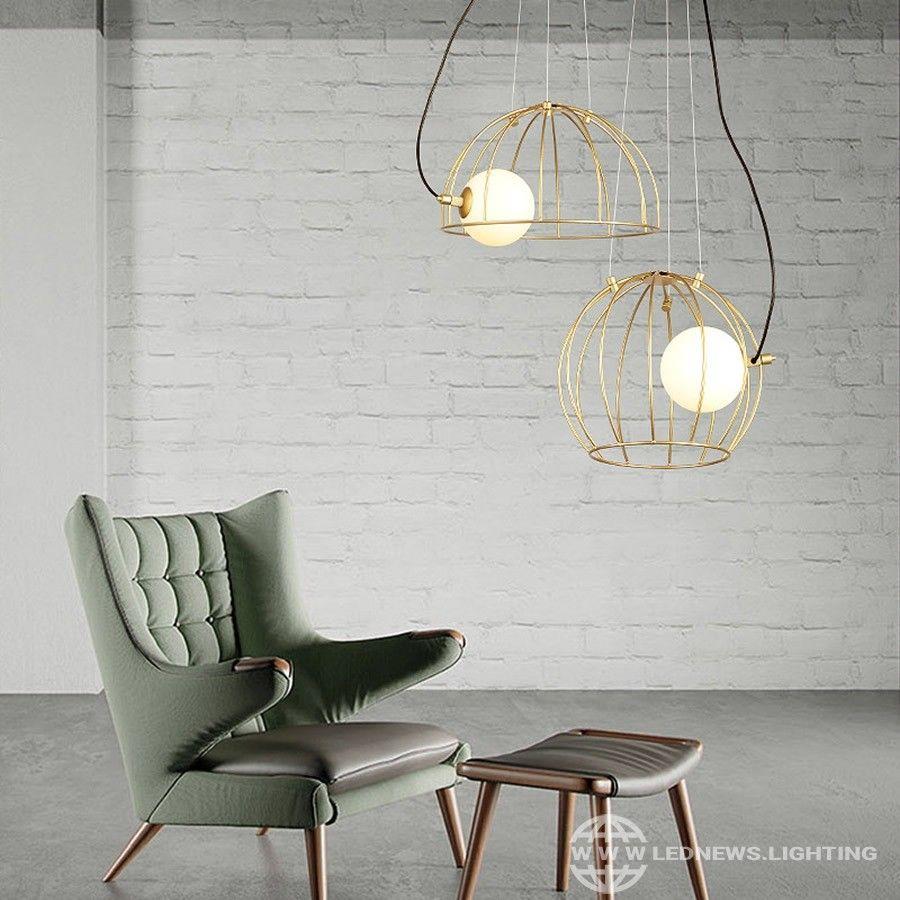 170 05 Creative Elegant Iron Cage Chandelier Post Modern Home Decor Lighting Luminaires Dining Room Home Decor Furniture Decor