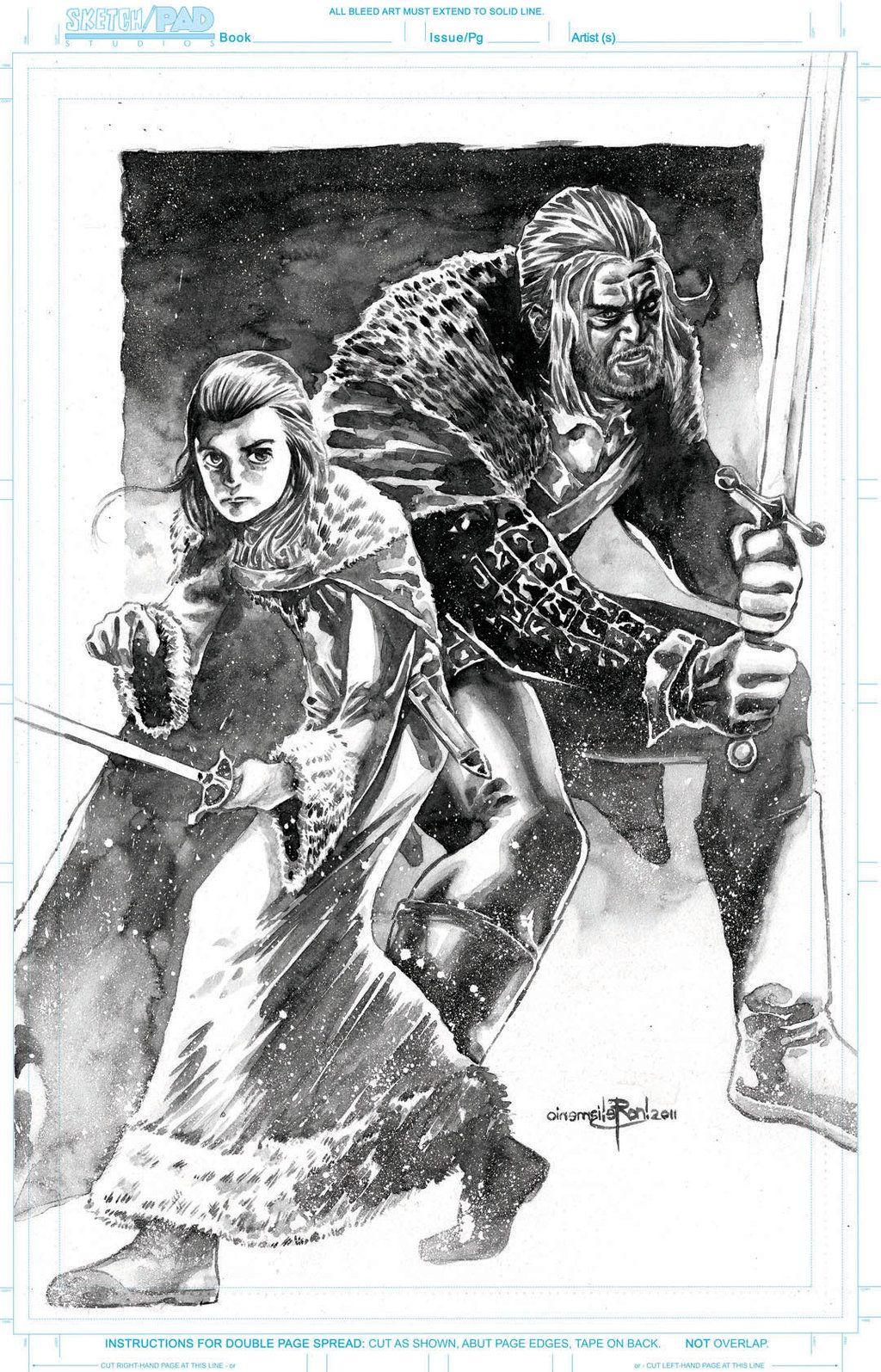 Ned y Arya