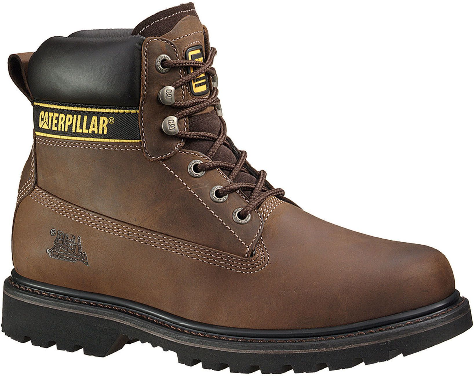 Caterpillar Holton Sb E Fo Hro Src Brown Men S Shoes Boots Cool Boots Brown Boots