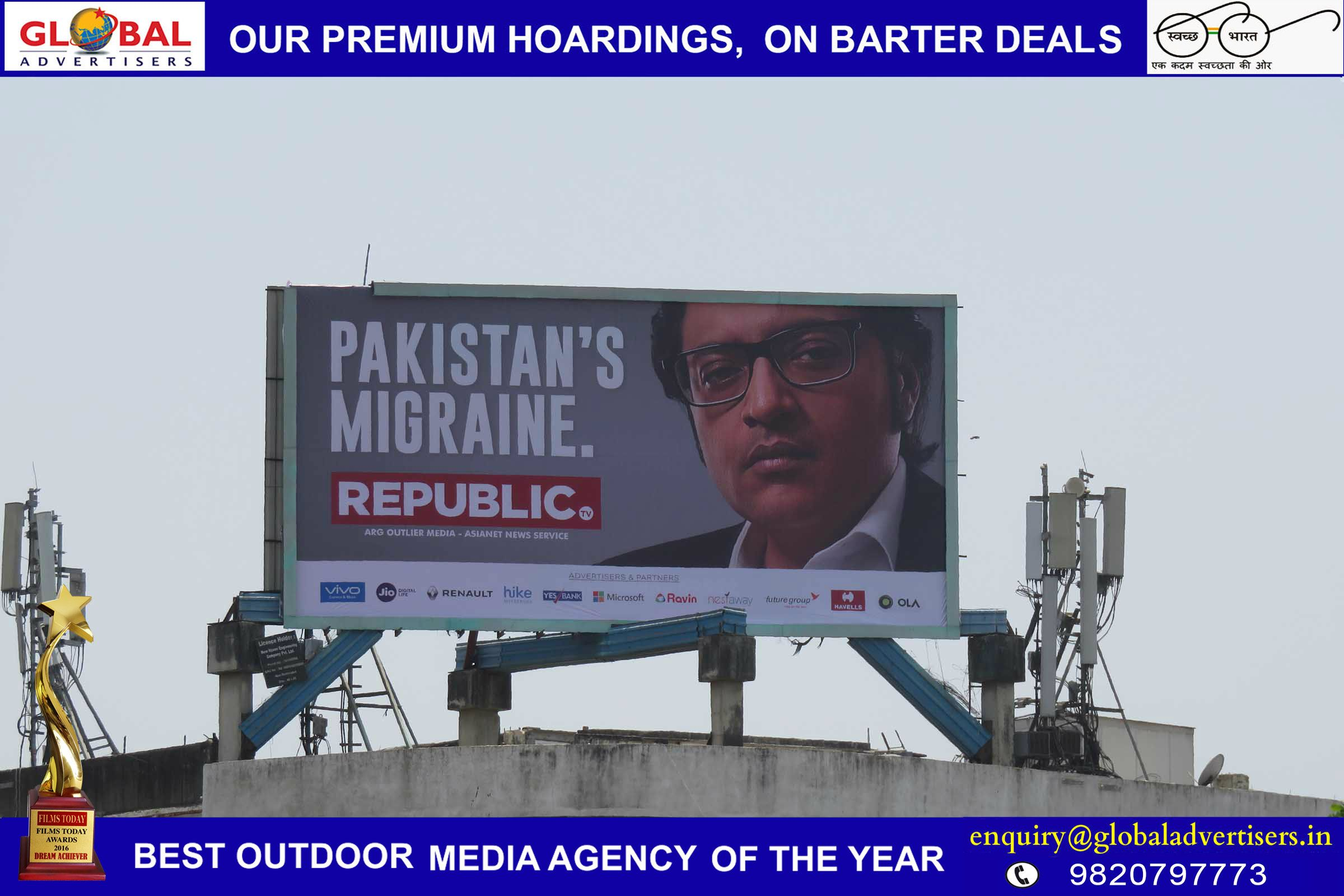 Arnab Goswami S Republic Tv Rolls Out Nation Still Wants To Know On Billboards In All Over Mumbai Ooh Campaign By Global Advertisers Outdoor Advertising