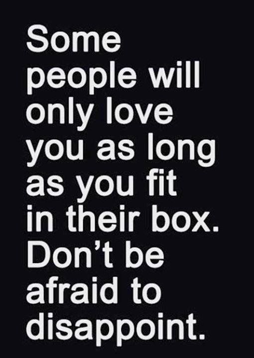 tormenta terciopelo cobija  Some People Will Only Love You As Long As You Fit In Their Box | Words  quotes, Inspirational words, Words