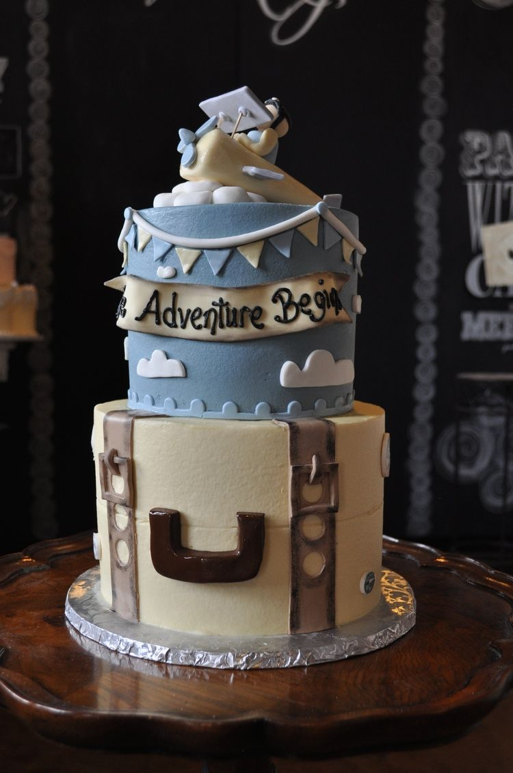 The Adventure Begins! Travel Themed Baby Shower Cake. Cake: Sugar Bee  Sweets Bakery