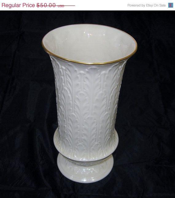 On Sale Vintage Lenox Vase Autumn Leaf Pattern Tall Lenox Vase Vintage Porcelain Vintage Vases