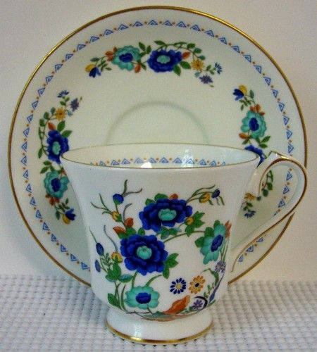 """Aynsley MARLINA 3"""" Tall Footed Cup and Saucer Set (s)"""