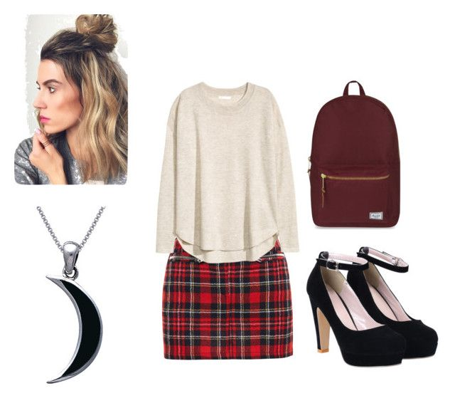 """""""Modern Schoolgirl"""" by ellianafox ❤ liked on Polyvore featuring Filles à papa, H&M, Herschel Supply Co., Carolina Glamour Collection and modern"""