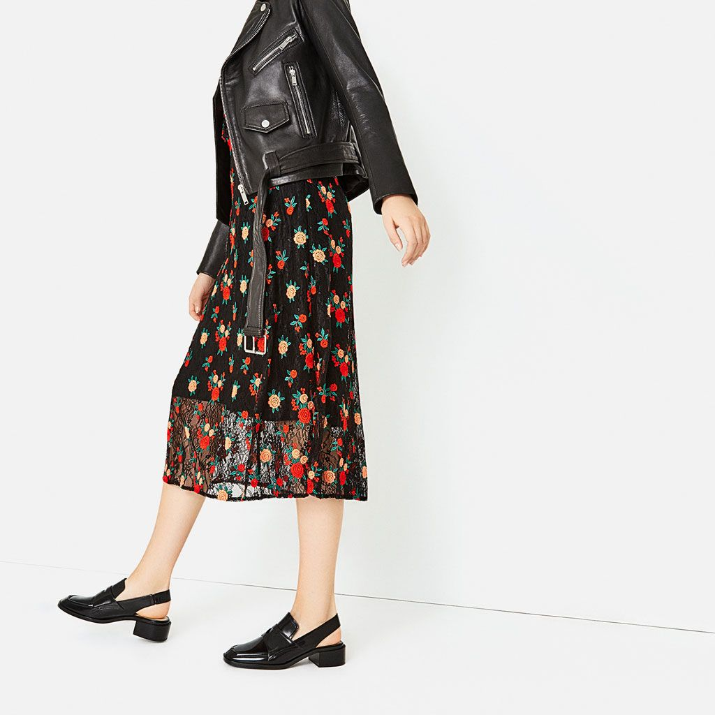 Image 1 of LEATHER SLINGBACK LOAFERS from Zara
