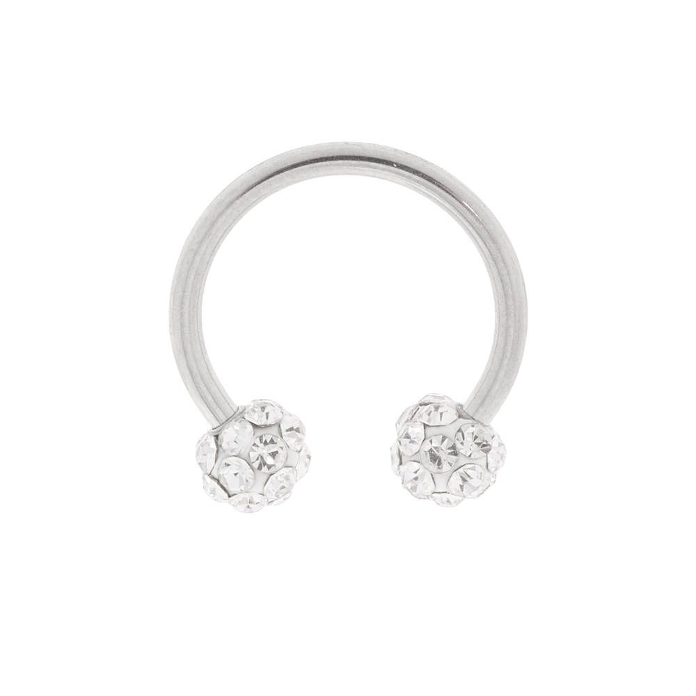 16g Silver Fireball Cartilage Horseshoe Earring Claire S