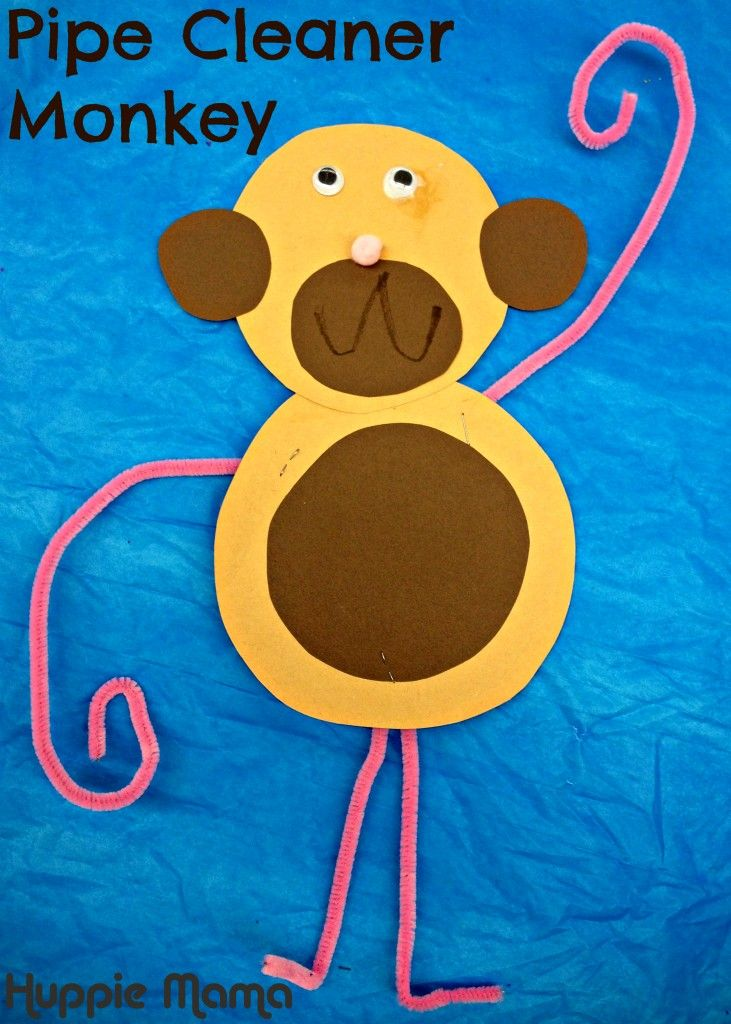 Animal Preschool Crafts This adorable monkey is ready to swing into your classroom! A great activit
