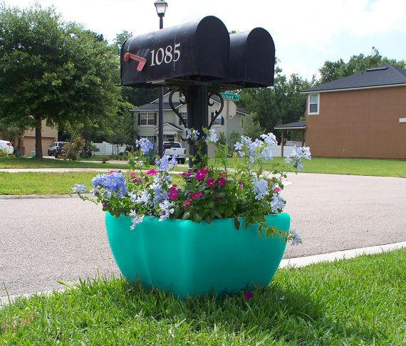 SnapPot Planter-Black-Flower Pot For Mailbox Post Or Deck