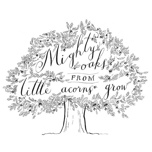 Printable Download Art Print Mighty oaks from little