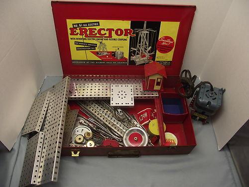1956 RESTORED AC GILBERT ERECTOR SET WALKING ROBOT 12 1/2
