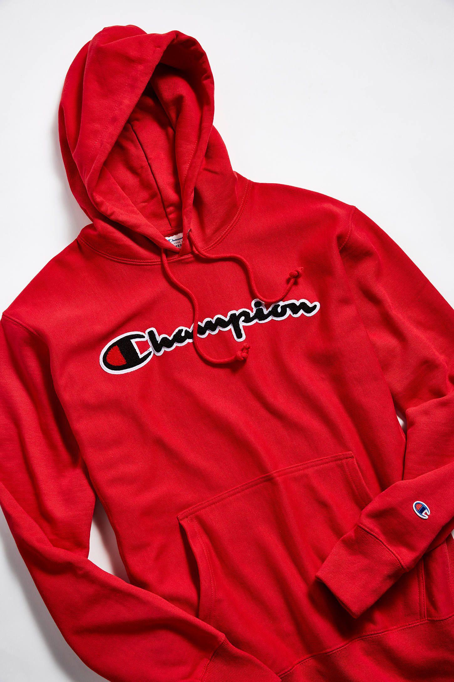MENS RED CHAMPION PLUS SIZE ZIP UP HOODIE HOODY JUMPER SWEATER SWEATSHIRT
