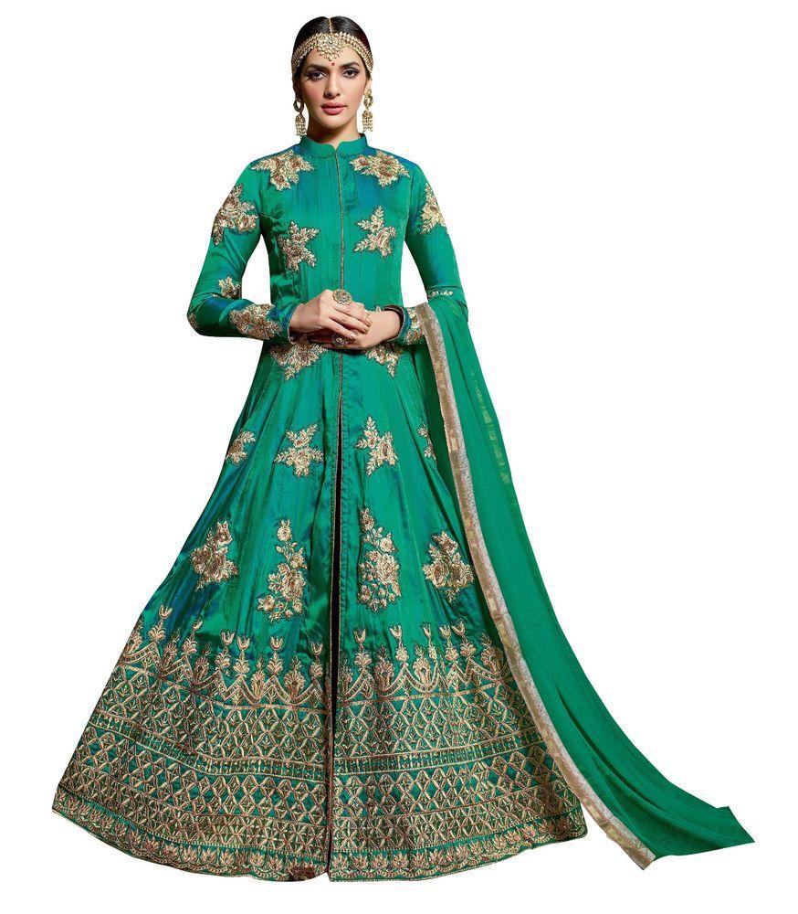 Indian Ethnic Designer Green Salwar kameez Fashion Premium Wedding ...