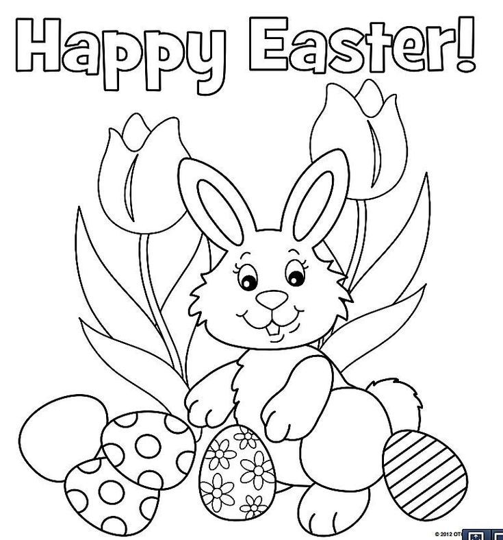 9 Places for Free, Printable Easter Bunny Coloring Pages
