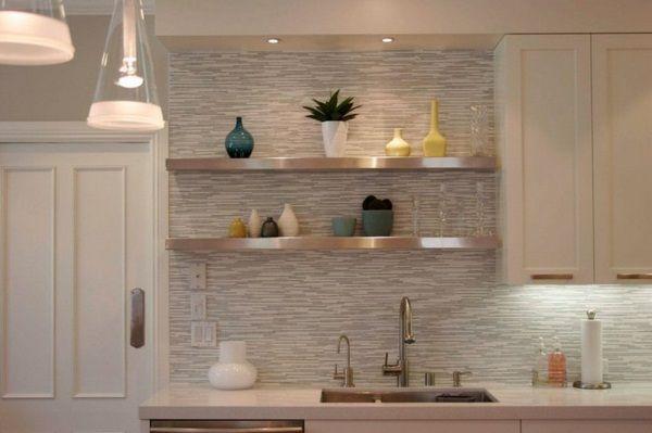 Wall Design Kitchen Kitchen Rear Wall Make Horizontal Wall Tiles Modern Kitchen Backsplash Floating Shelves Kitchen Modern Kitchen Tile Backsplash