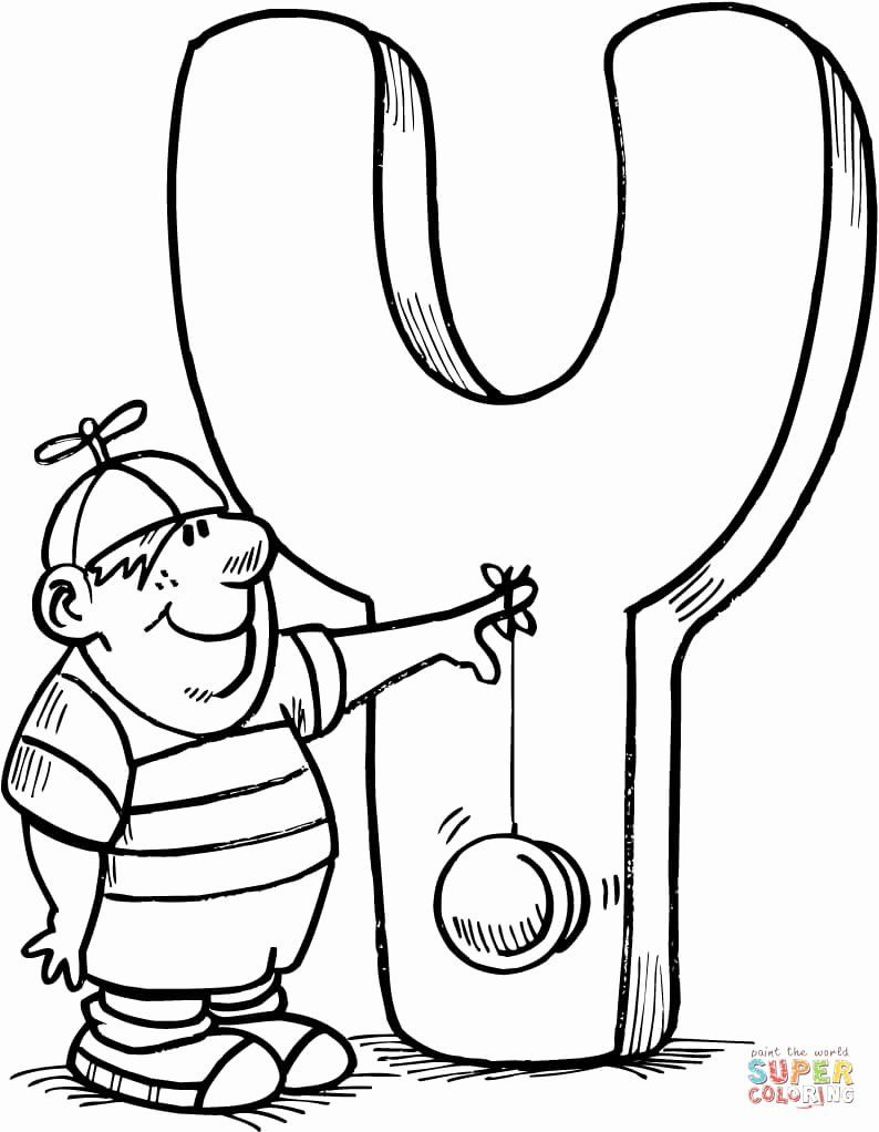 Letter Y Coloring Page Luxury Letter Y Is For Yo Yo Coloring Page In 2020 Lettering Alphabet Alphabet Coloring Pages Coloring Pages