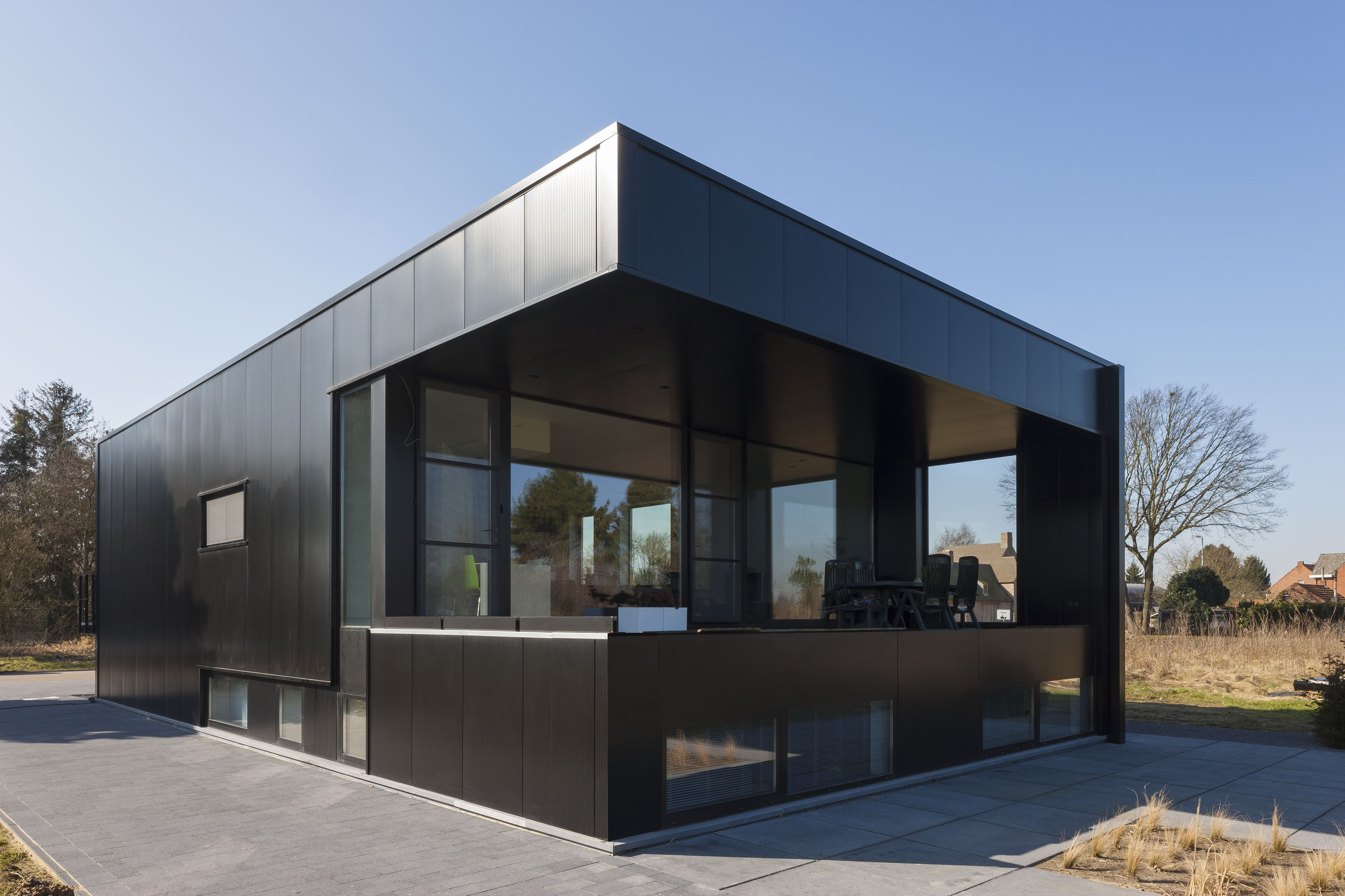 staalbouw woning | architectuur Sarah Theeuws | Pinterest