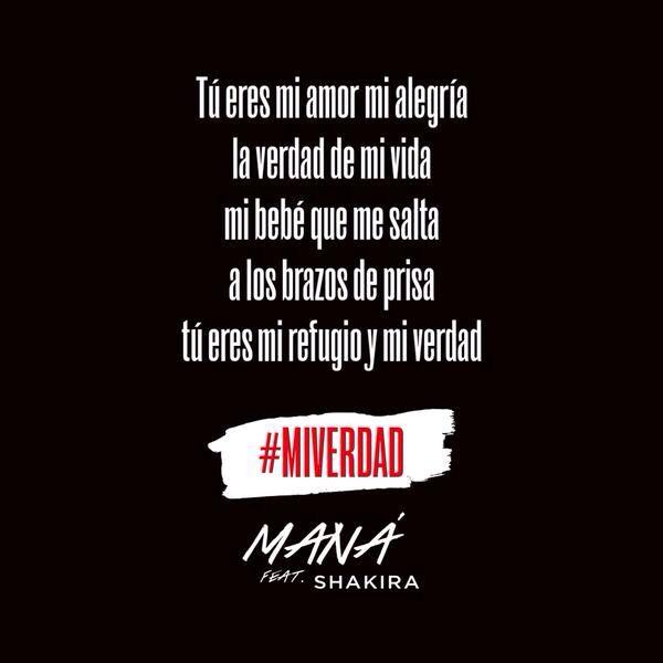 Mi Verdad Mana Shakira Verdades Letras De Canciones Frases De Letras De Canciones
